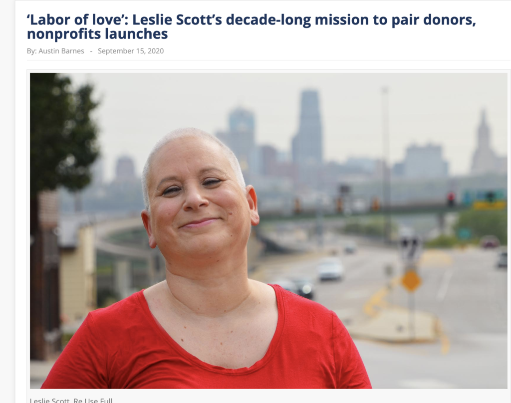 Leslie Scott, founder of Re.Use.Full, a platform that matches potential donors with nonprofit organizations
